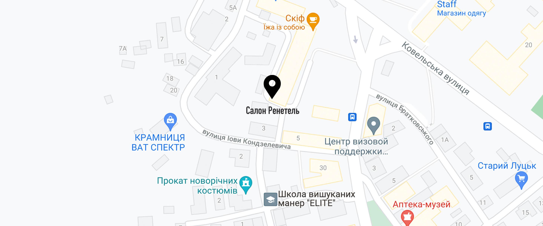 Location of lutsk on map